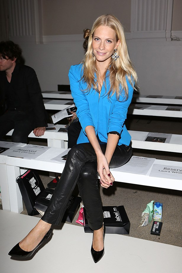 Poppy Delevingne: The model opted for a sophisticated look at the Pinghe show.