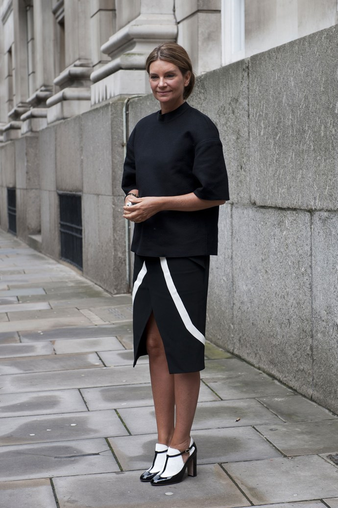 Who says black is dull? Crisp whites in interesting shapes make for a fun twist on monochrome.