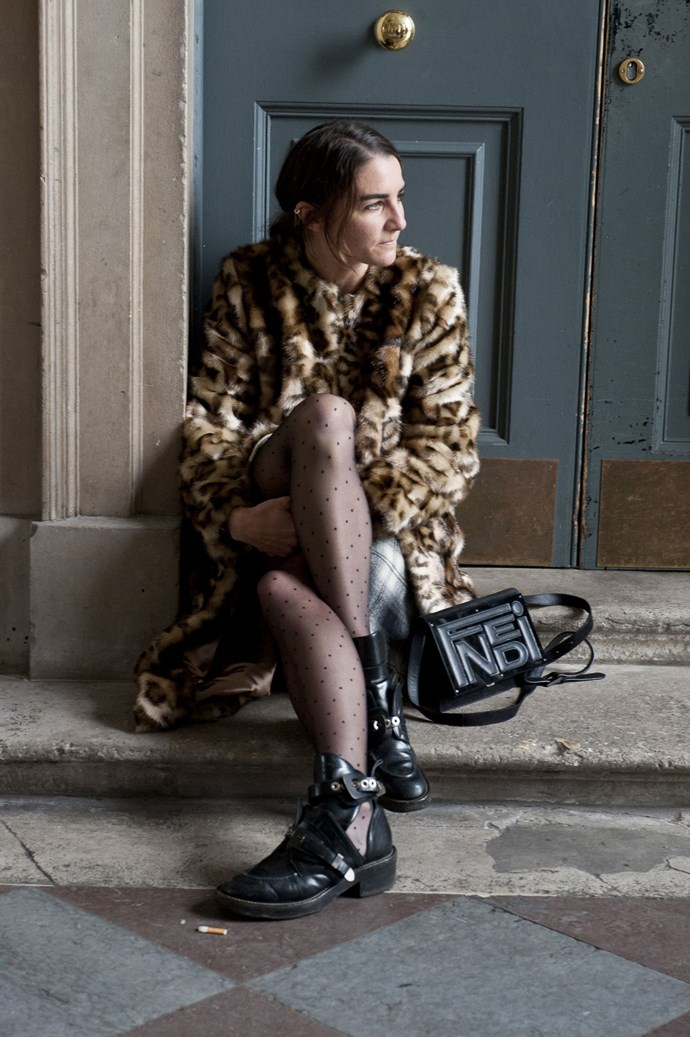 Channel the punk trend by clashing prints such as leopard, check and spots, complete with worn-in leather accessories.
