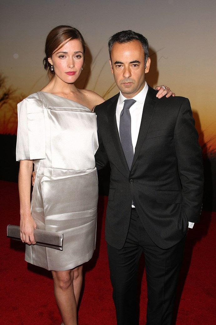 Rose Byrne with Costa at the MoMA film benefit gala at the Museum of Modern Art in 2008 in New York City.