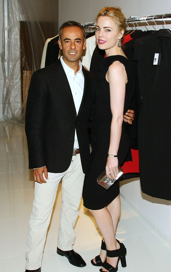 Costa and Melissa George attend the opening of the Calvin Klein Collection shop at Saks Fifth Avenue in New York in 2009.