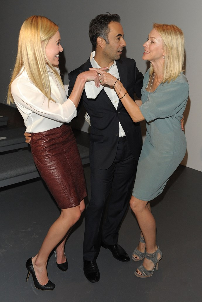Kate Bosworth, Costa and Naomi Watts at the Calvin Klein Collection AW10-11 Fashion Show in New York, 2010.