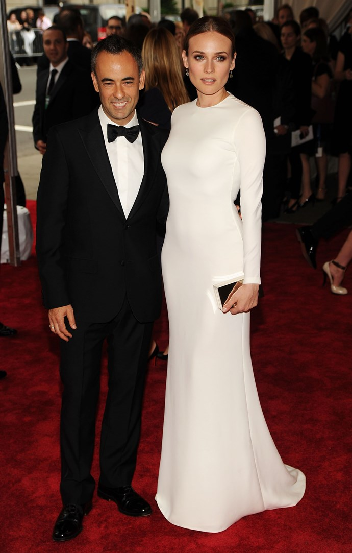 Diane Kruger and Costa at the Costume Institute Gala Benefit at The Metropolitan Museum of Art in New York, 2010.