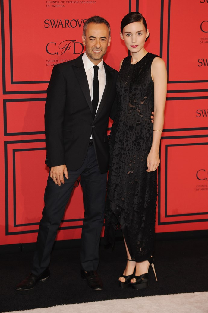 Costa and Rooney Mara at the 2013 CFDA Fashion Awards in New York.
