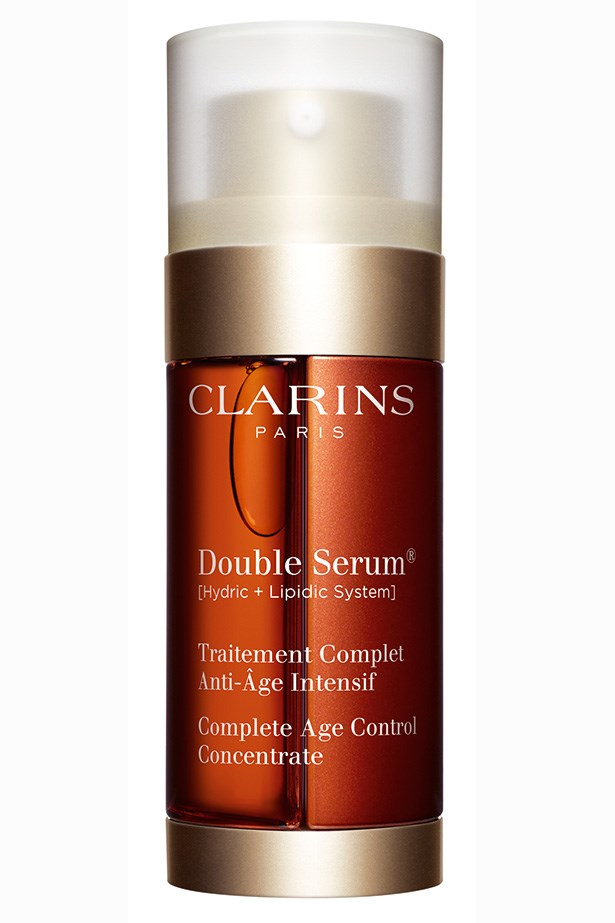 <em>Double Serum, $90, Clarins, (02) 9663 4277</em> <strong>Janna Johnson O'Toole</strong>, Beauty & Fitness Director