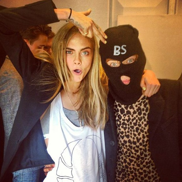 And they wonder why those dating rumours just won't die… Cara Delevigne and her 'friend' Styles hammed it up for the camera after Burberry's London Fashion Week show, with the model posting this playful snap on her Instagram.
