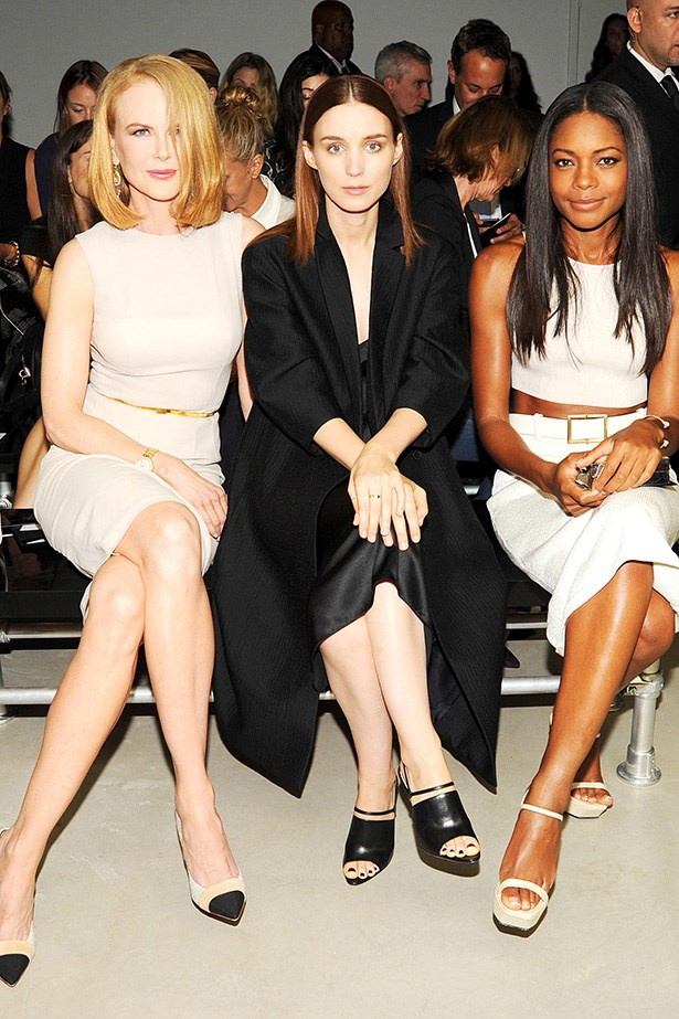 Nicole Kidman, Rooney Mara and Naomie Harris front row.