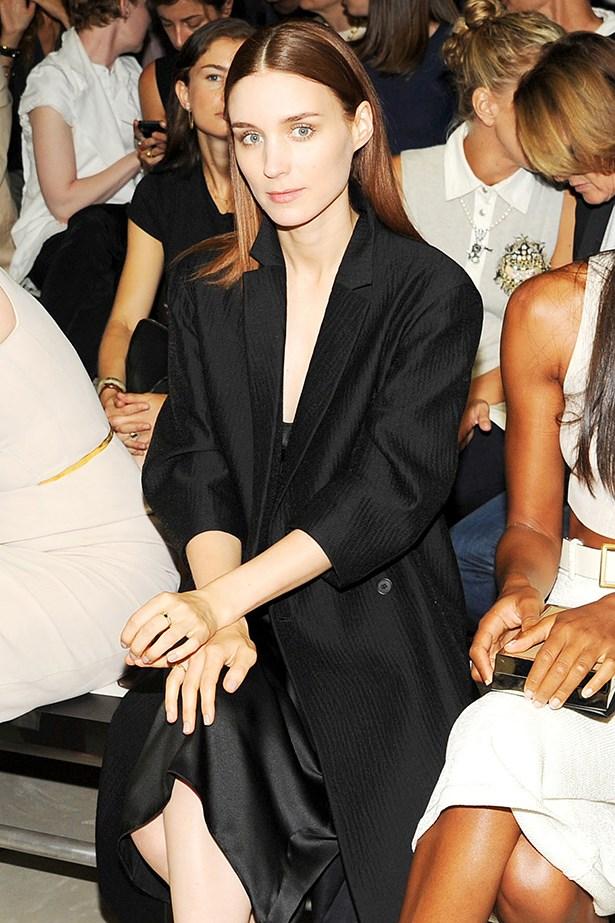 Rooney Mara front row.