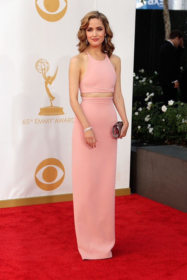 <p><strong>TREND: PALE AND INTERESTING</strong></p> <p>Rose Byrne showcased her svelte frame in a custom Calvin Klein.</p>