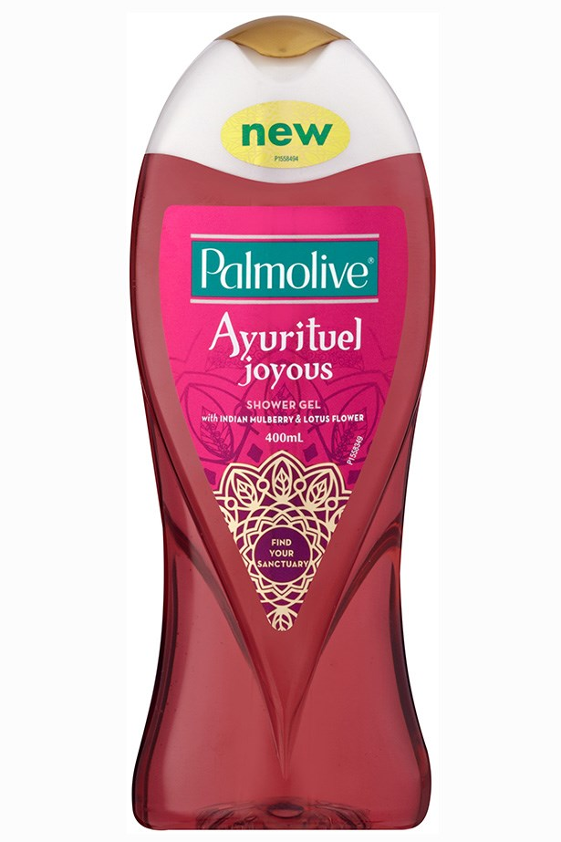 An intoxicating lotus flower scent, inspired by ancient Indian Ayuverdic tradition. <em>Ayrurituel Tranquility Body Wash, $6.79, Palmolive, 1800 802 307</em>