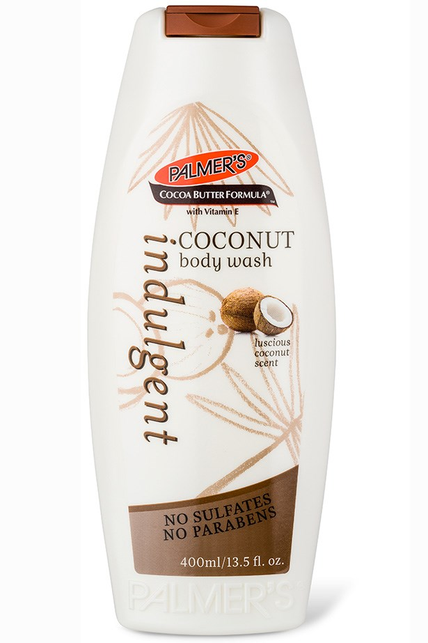 "The classic cocoa butter body wash, infused with coconut. <em>Cocoa Butter Formula Coconut Body Wash, $5.99, Palmer's, <a href=""http://palmersaustralia.com"">palmersaustralia.com</a> for store locations</em>"