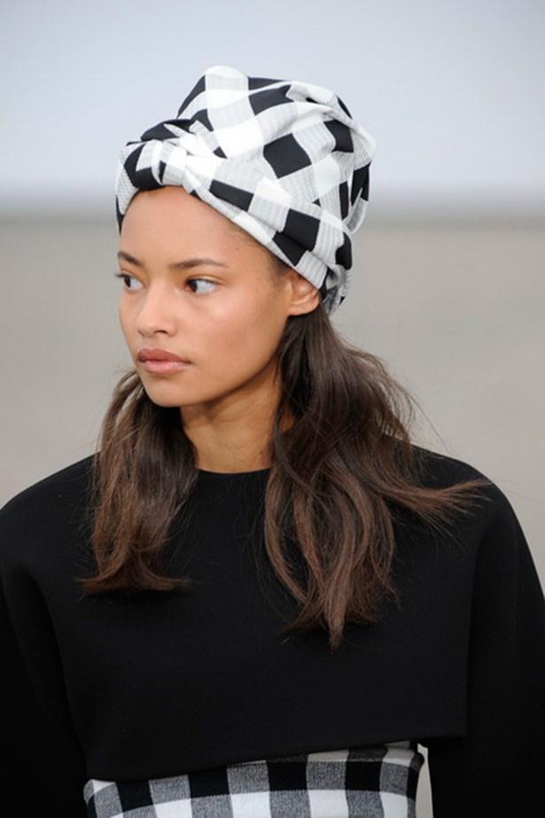 Derek Lam SS14 head scarf