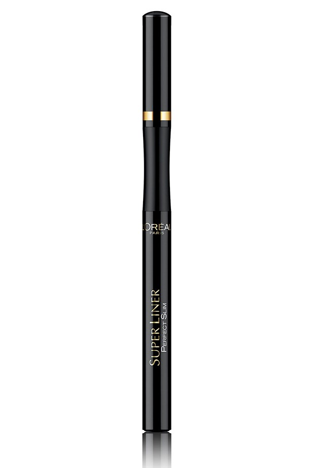 """<a href=""""http://lorealparis.com.au """"></a>SuperLiner Perfect Slim Eyeliner, $24.95, L'oreal Paris, lorealparis.com.au Use a fine-tipped liner (shown) to get Missoni's liquid precision. Layer a kohl formula over the liquid to create the smudged cat's eye seen at Just Cavalli."""