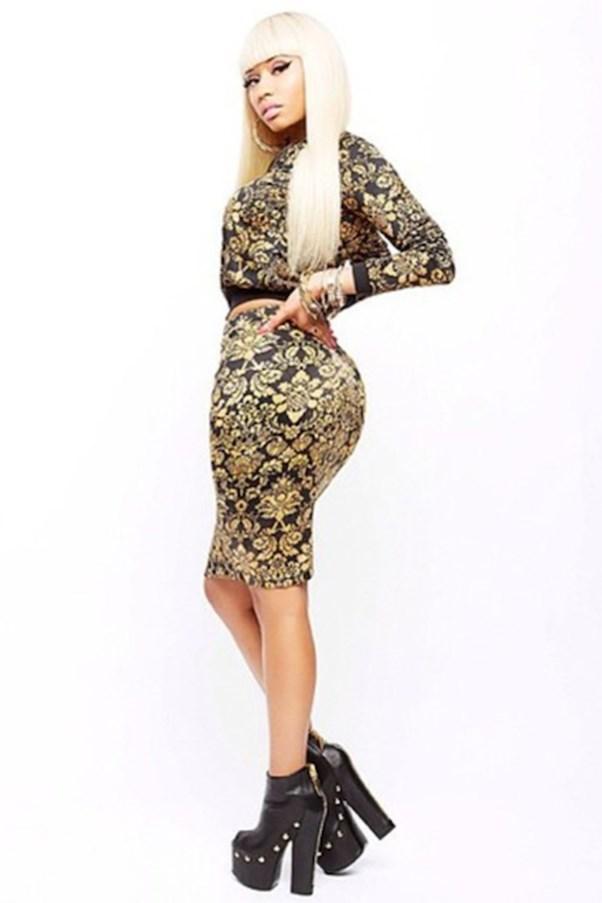 Nicki Minaj for KMart matching skirt and bomber jacket.