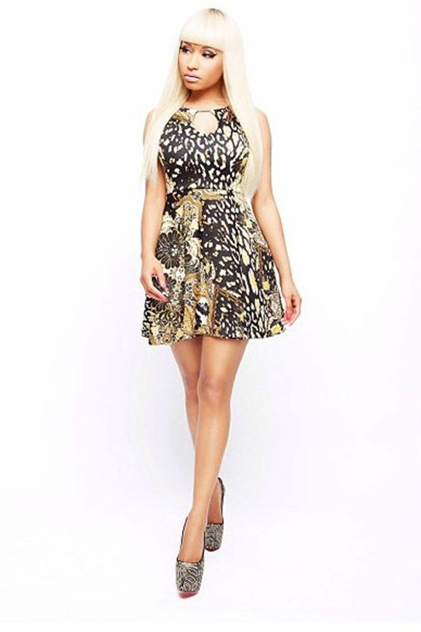Nicki Minaj for KMart printed dress.