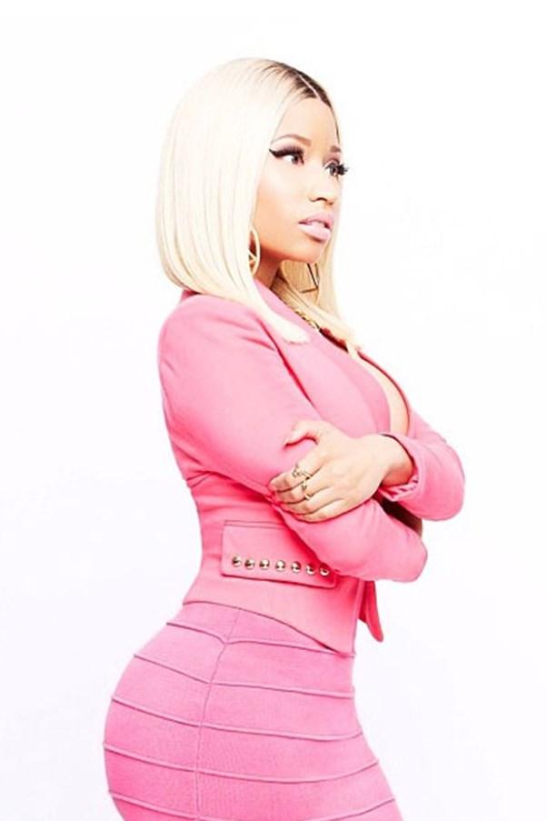 Nicki Minaj for KMart pink blazer and skirt.