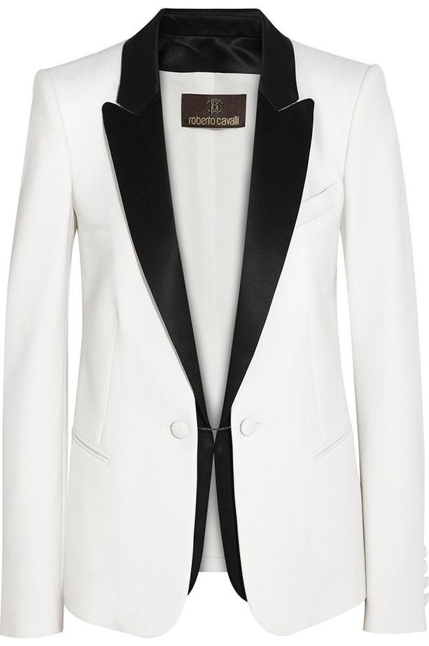 Jacket, $2498, Roberto Cavalli, net-a-porter.com