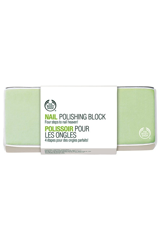 """Nail Polishing Block, $6.95, The Body Shop, <a href=""""http://thebodyshop.com.au"""">thebodyshop.com.au</a> Smooth, shape and shine your nails with a buffing block."""