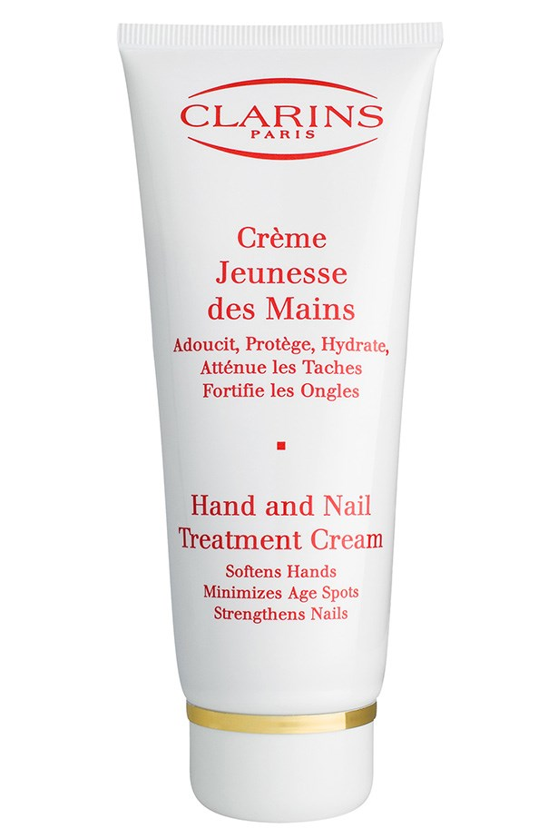Hand and Nail Treatment Cream, $40, Clarins (02) 9663 4277 Don't forget the rest of your hands - nourish them with a hydrating cream.