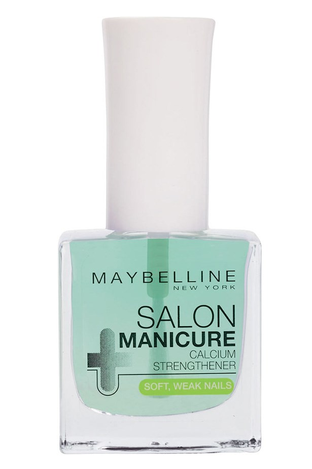 Salon Manicure Calcium Strengthener, $10.95, Maybelline New York, 1300 369 327 Apply a nail strengthener a few times a week to feed your nails.