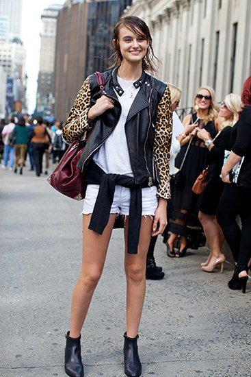 Models love Phillip Lim and, by the looks of this outfit, he loves them back.