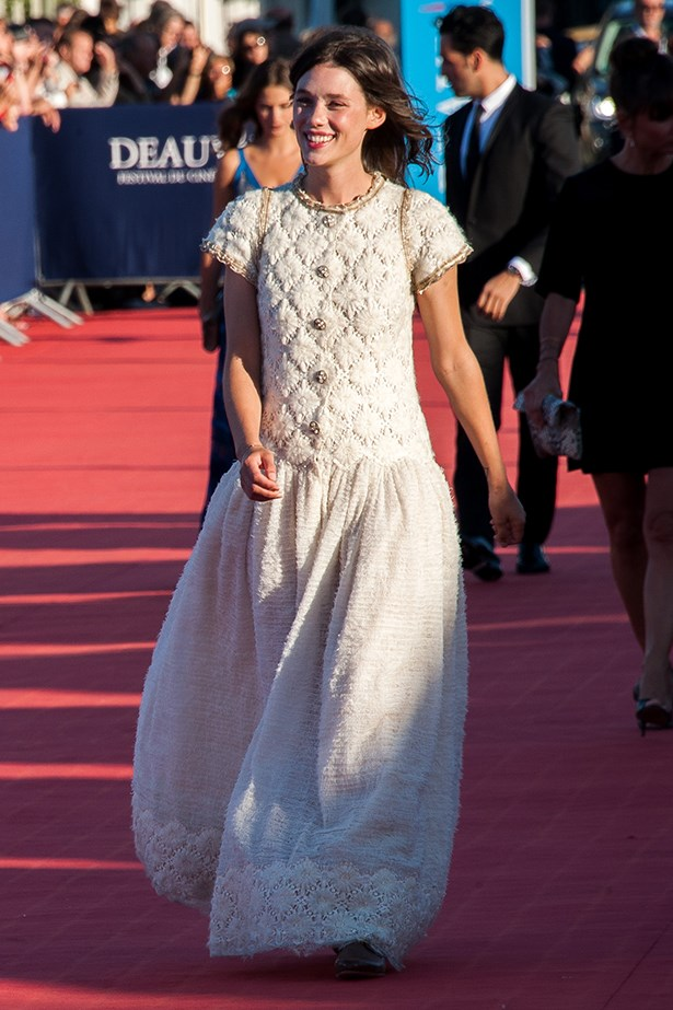 <p><strong>Astrid Bergès-Frisbey in Chanel</strong></p> <p>Why not button-down your white dress <em>al la</em> Astrid Bergès-Frisbey in Chanel pre-fall 2013? One of our fave French actresses looked one part Victorian, one part modern bride and all parts<em> oh là là</em>, at the <em>Snowpiercer</em> premiere during Deauville American Film Festival.</p>
