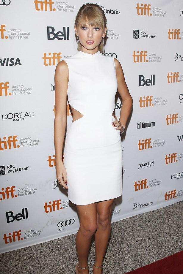 <p><strong>Taylor Swift in Calvin Klein Collection</strong></p> <p>It's your wedding and you'll bare skin if you want to! Taylor Swift's custom-made Calvin Klein Collection number, which she wore to the <em>One Chance</em> premiere at Toronto International Film Festival, struck the perfect sweet/sexy balance with a demure neckline and a daring waistline. Not for the faint-hearted bride.</p>