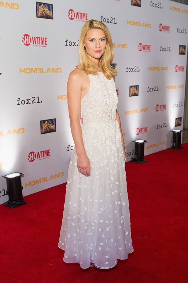 <p><strong>Claire Danes in Valentino</strong></p> <p>So you want to wear a brightly coloured wedding dress but your mother/mother-in-law-to-be/distant aunty is insisting you wed in virginal white? We've been there. The dip-dyed Valentino Resort 2014 dress that Claire Danes wore to the <em>Homeland</em> Season 3 premiere could be the answer to all your problems.</p>