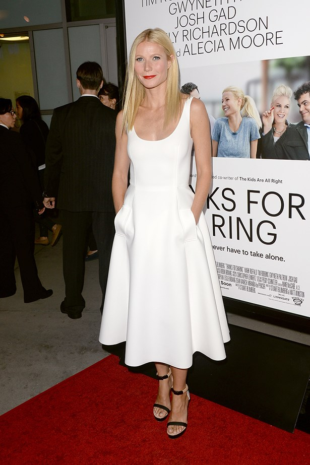 <p><strong>Gwyneth Paltrow in Lanvin</strong></p> <p>Gwyneth Paltrow's clean-lined Lanvin Resort 2014 dress, which she wore to a <em>Thanks For Sharing</em> premiere, has pockets! Pockets! If you're not as excited about pockets as we are, feel free to click on. Otherwise, let's linger together and muse about the genius that is a wedding dress with <em>pockets</em>.</p>