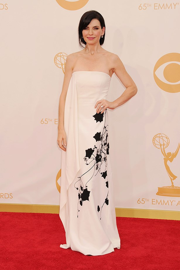 <p><strong>Julianna Margulies in Reed Krakoff </strong></p> <p>Julianna Margulies' Reed Krakoff look that she wore to the Emmys, featuring painted florals, gave us an art-attack – in the best possible way. An otherwise non-distinct white gown was uplifted by a crafty print.</p>