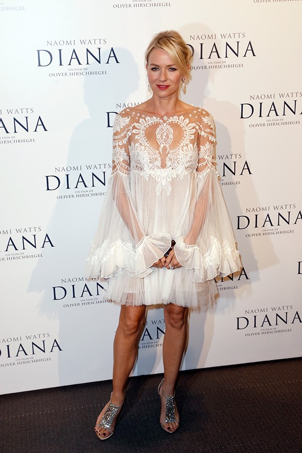 <p><strong>Naomi Watts in Marchesa</strong></p> <p>Here's one for the boho-bride: Naomi Watts looked every inch the fairy princess in a flirty and floaty Marchesa dress at the premiere of <em>Diana</em>, in Paris.</p>
