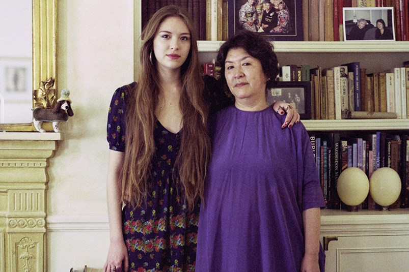 Hanako Footman and her mother Yuko