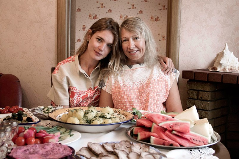 Natalia Vodianova and her mother Larisa Vodianova