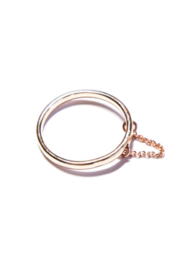 Chain drop ring, $132, PetiteGrand, petitegrand.com