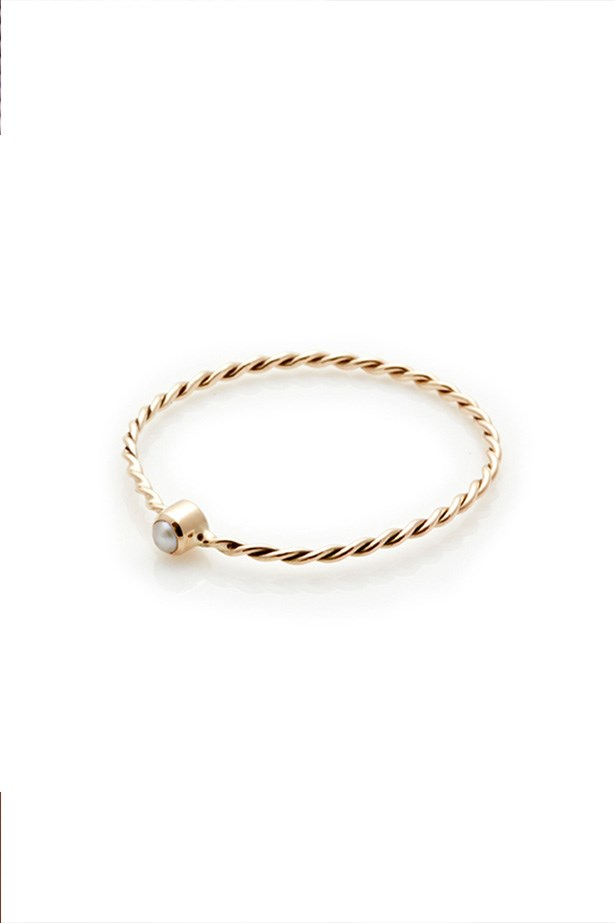 Pearl ring, $260, Sarah & Sebastian, sarahandsebastian.com