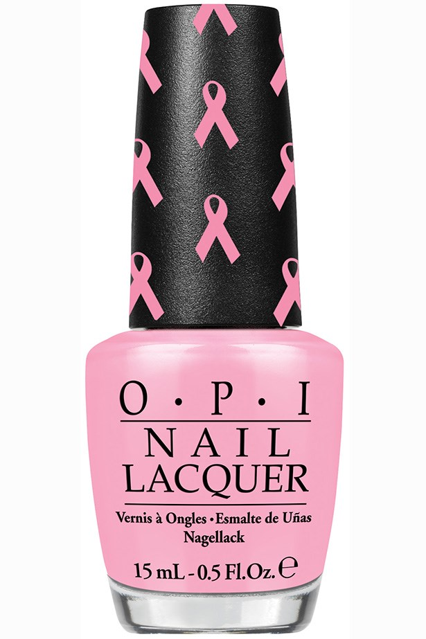 """Pink of Hearts 2013 Nail Art Pack, $24.95, OPI, <a href=""""http://opi.net.au"""">opi.net.au</a> OPI's limited-edition colours, More Than A Glimmer and Pink-ing Of You, come with fun ribbon stickers and crystals – 100 per cent of profits are donated to breast cancer research."""