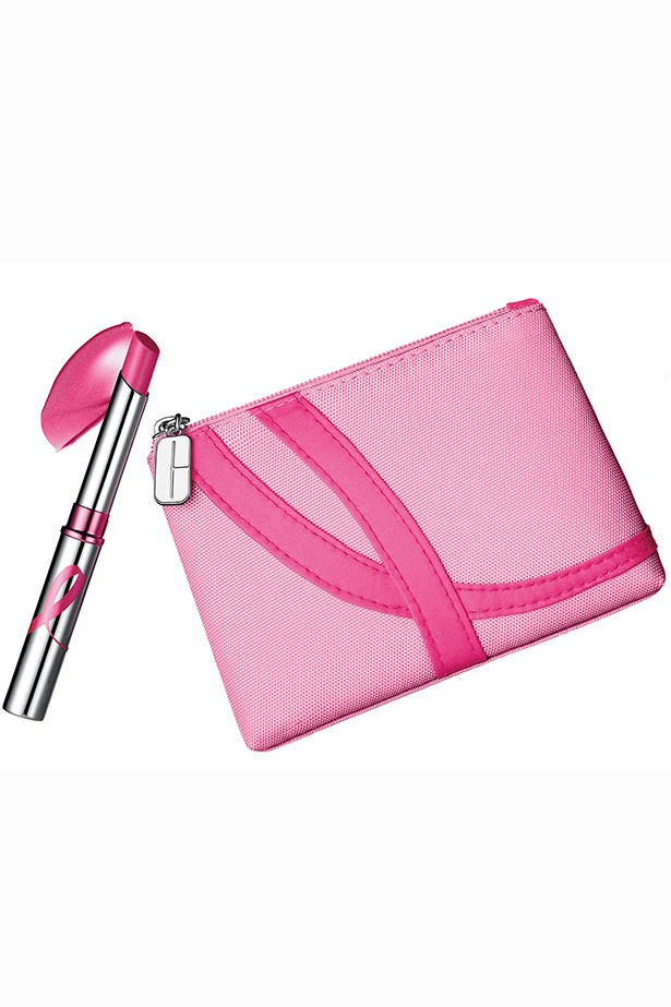 """Almost Lipstick in Pink Ribbon Honey, $36, Clinique, <a href=""""http://clinique.com.au"""">clinique.com.au</a> Pout for a cause with Clinique's Pink Ribbon Honey lipstick. It comes in a convenient pink cosmetic carrying pouch. Beautiful!"""
