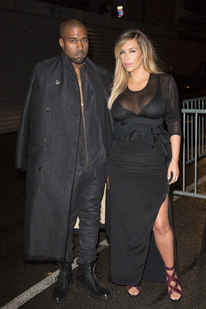 Pregnant Kim Kardashian with Kanye West