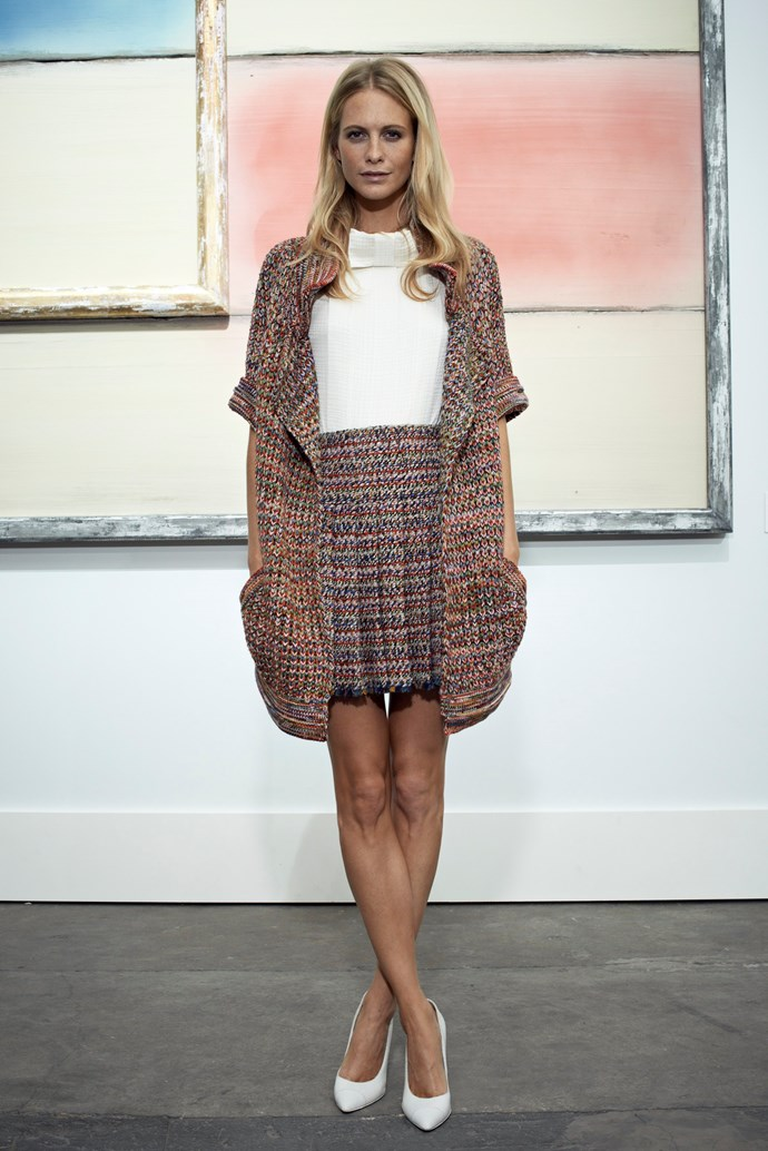 Poppy Delevingne went for a knit-chic ensemble