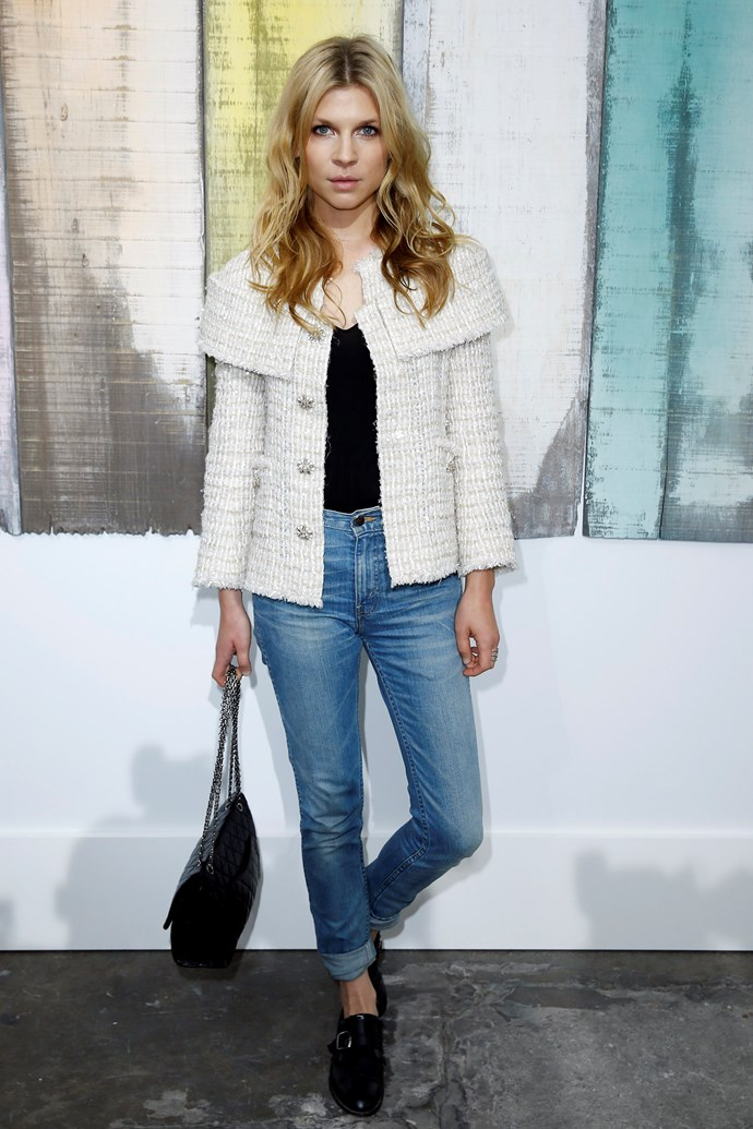 Clémence Poésy pared back her look with casual denim