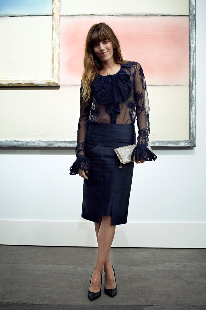 Lou Doillon's outfit was a sheer thing