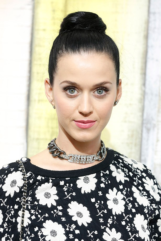 A glowing, fresh Katy Perry at the SS14 Chanel show.