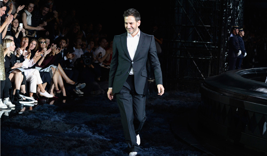 Marc Jacobs on the runway
