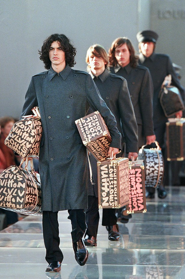 Marc Jacobs caused a fashion obsession with graffiti luggage after the Louis Vuitton SS01 show.