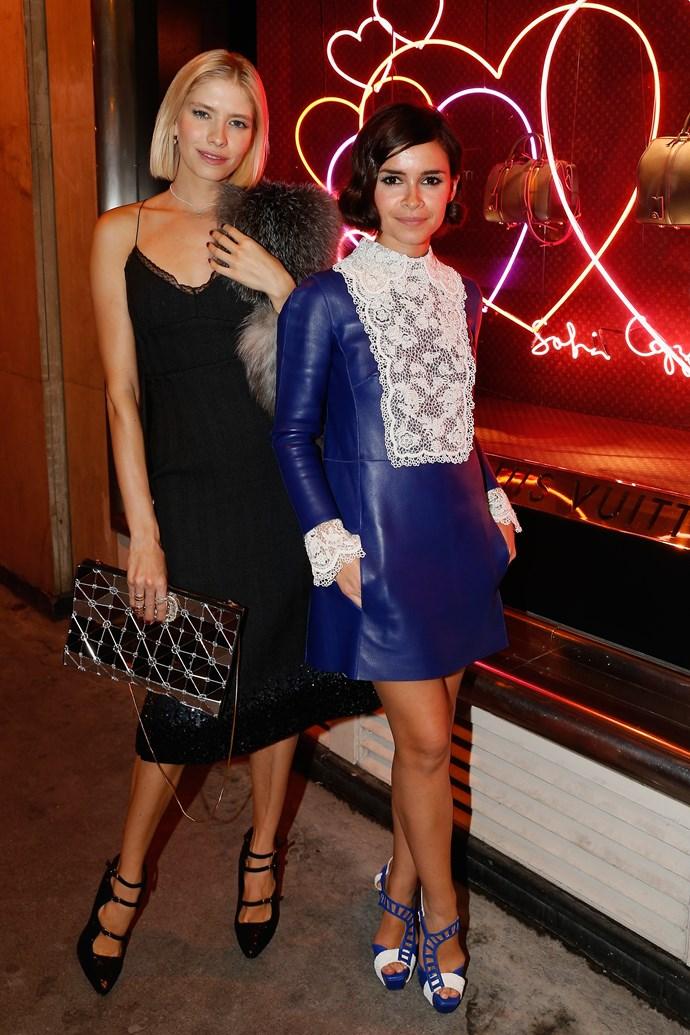 Model Elena Perminova and the ever-stylish Miroslava Duma
