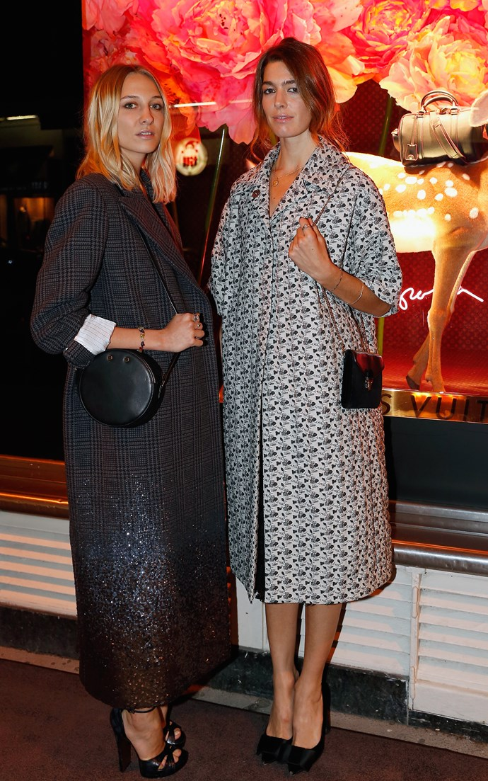 Handbag designers and ELLE bloggers Luisa Orsini and Antonine Peduzzi cover up