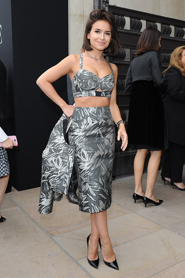 Miroslava Duma went all <em>Jungle Book</em> on us at the Armani Privé autumn/winter 13-14 couture show in Paris. The street-style star's three-piece outfit was courtesy of Jason Wu resort 14.