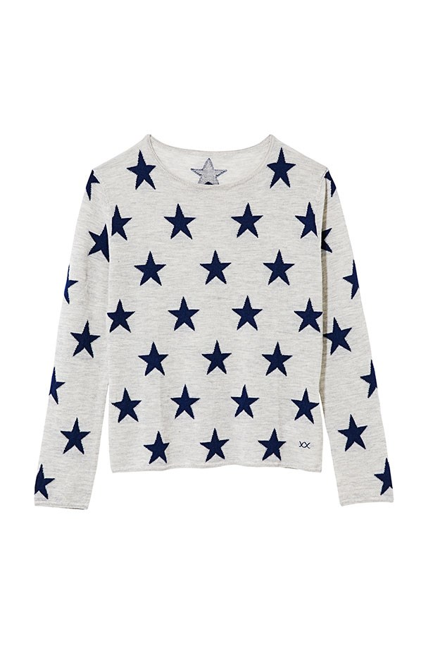"Cashmere sweater, $295, Banjo and Matilda, <a href=""http://banjoandmatilda.com"">banjoandmatilda.com</a>"