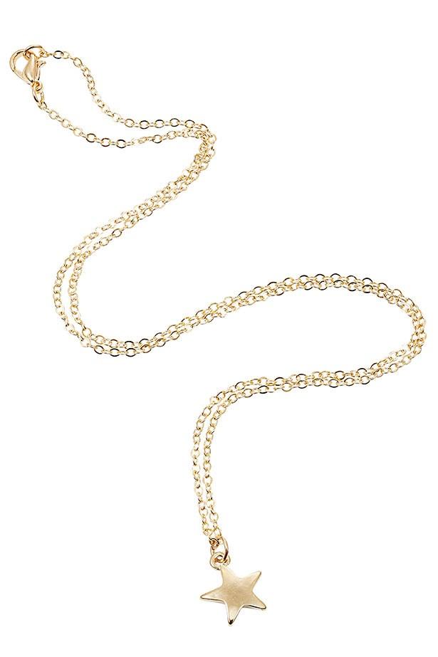 "Necklace, $39, Molten store, <a href=""http://moltenstore.com"">moltenstore.com</a>"