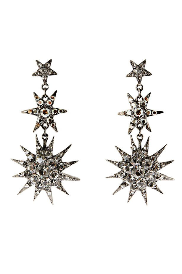 "Earrings, $98, Peter Lang, <a href=""http://peterlang.com"">peterlang.com</a>"